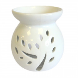 Veľká klasická biela aroma lampa výrez stromu
