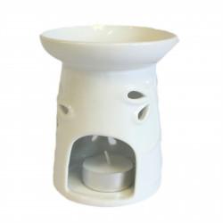 Veľká klasická biela aroma lampa Vážka